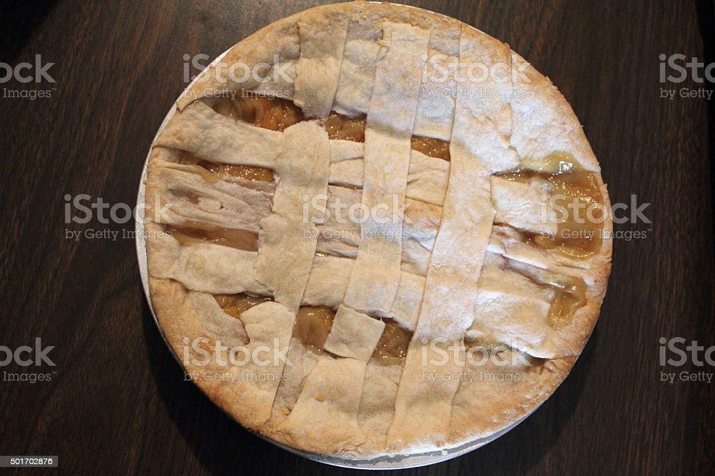 Peach pie, one stock photo