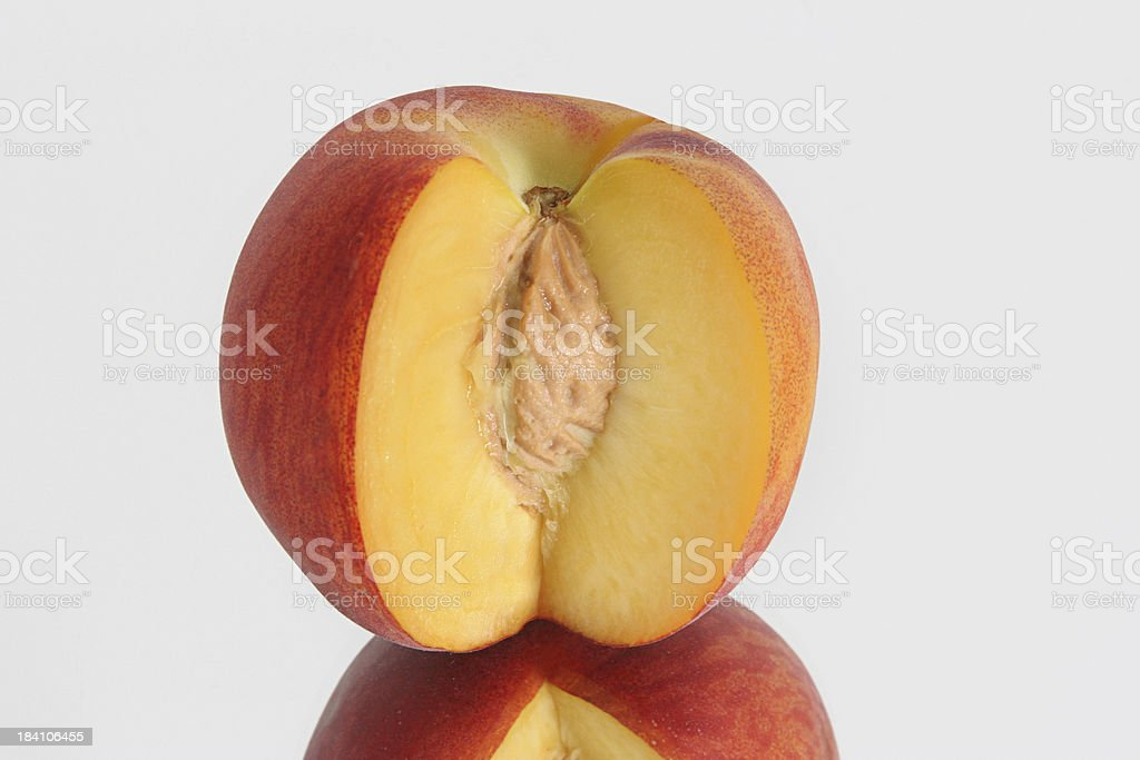 peach, slice cut out royalty-free stock photo