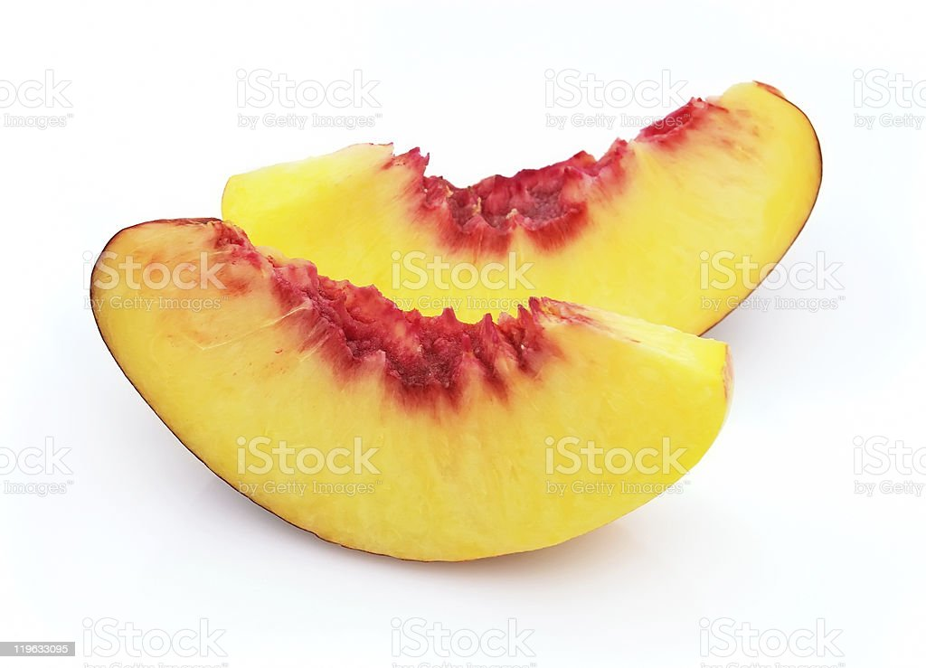 Peach slices royalty-free stock photo