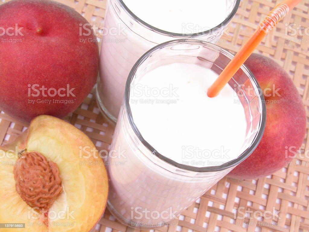peach smoothite stock photo