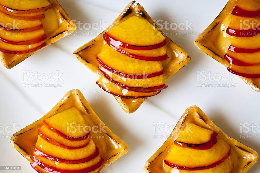 Peach Tarts stock photo