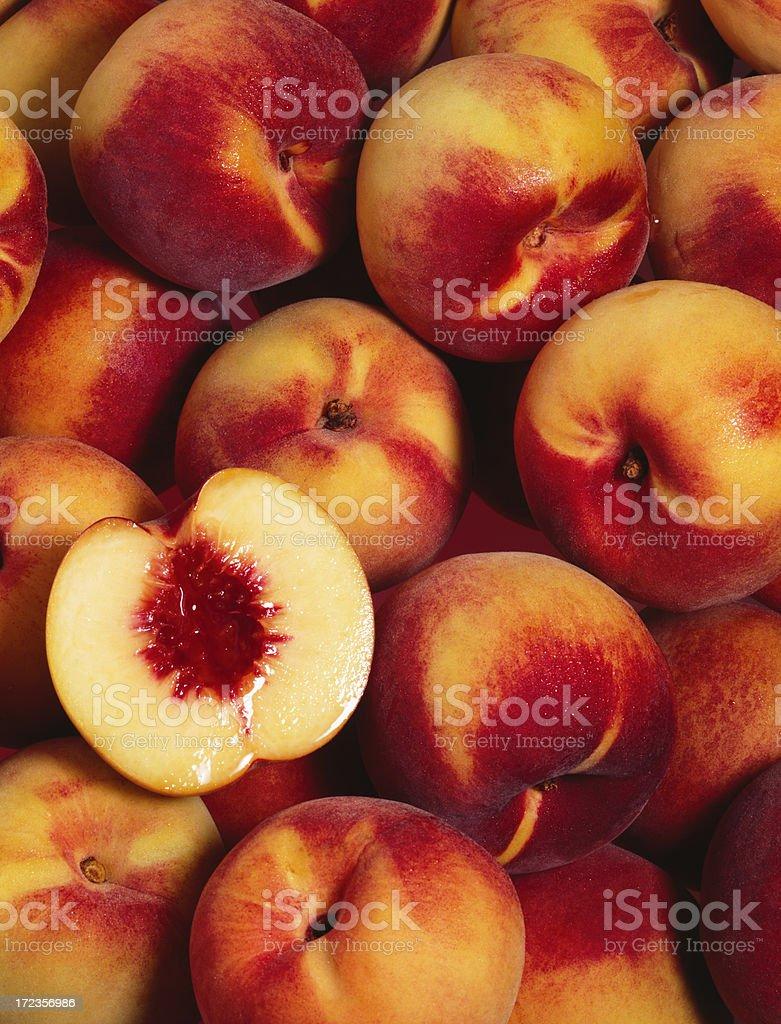 Peach wallpaper (1) stock photo