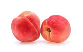 Peach with isolated on white