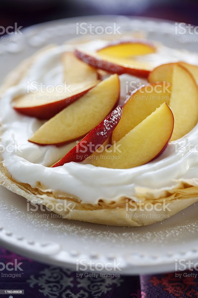Peaches and Cream royalty-free stock photo