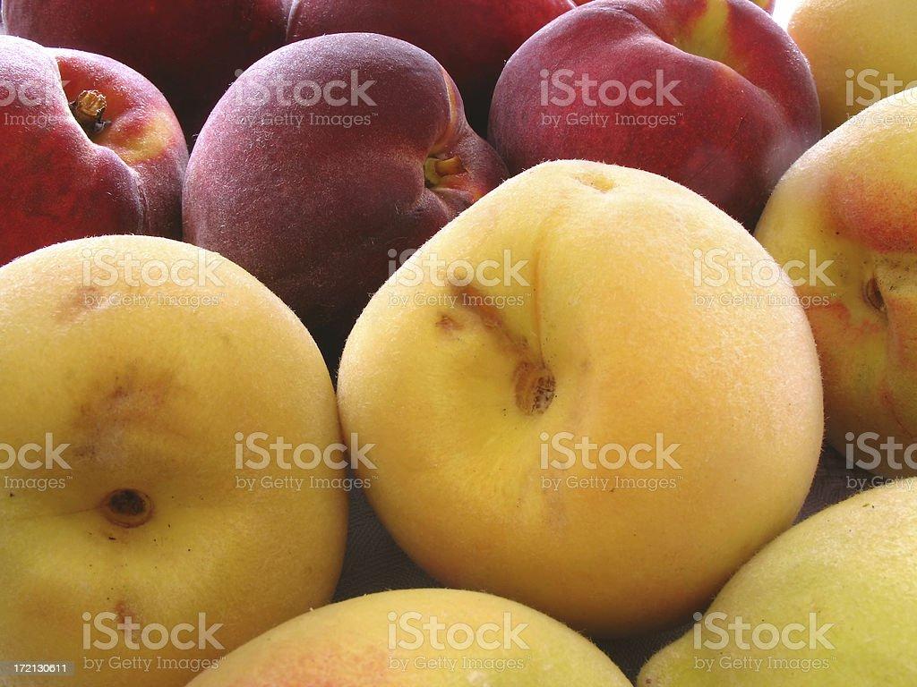 Pêssegos e nectarines foto royalty-free