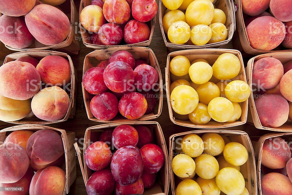 Peaches and Plums royalty-free stock photo