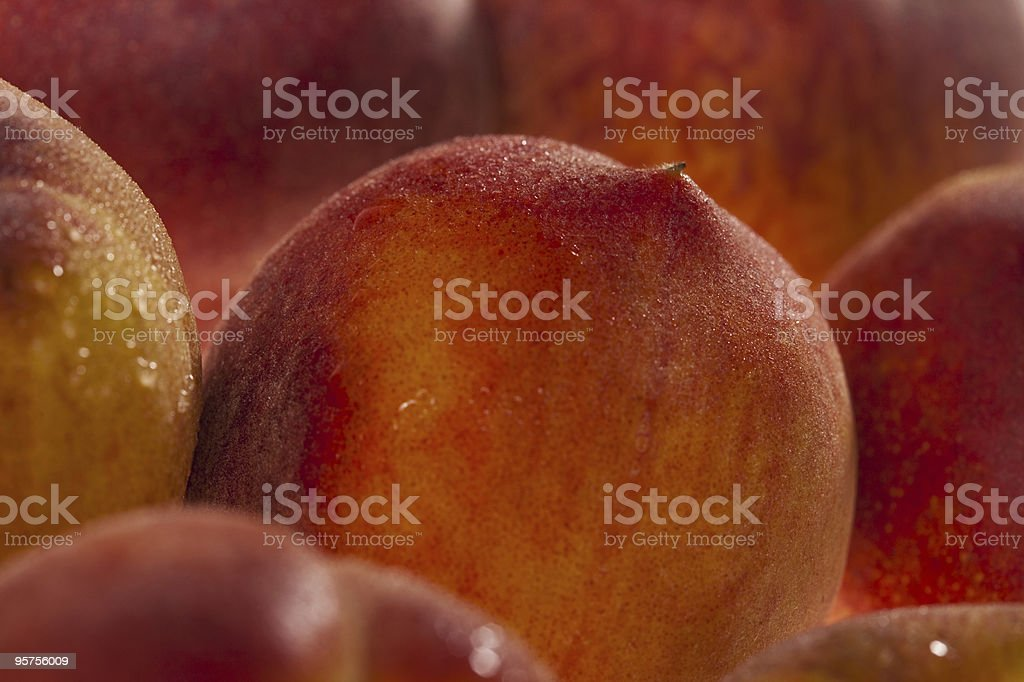 peaches background, full frame, shallow DOF stock photo