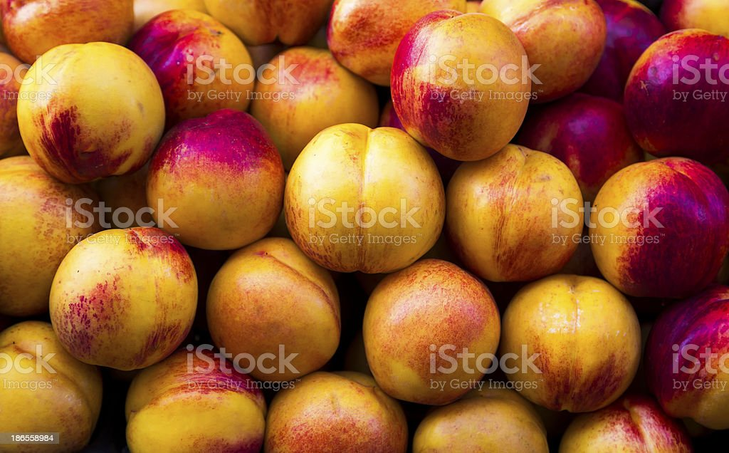 Peaches Closeup stock photo