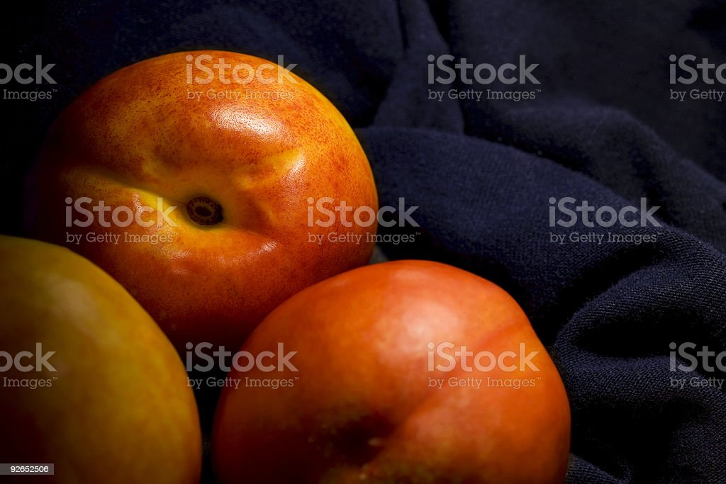 Peaches composition royalty-free stock photo