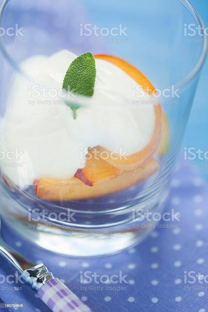 Peaches Dessert royalty-free stock photo