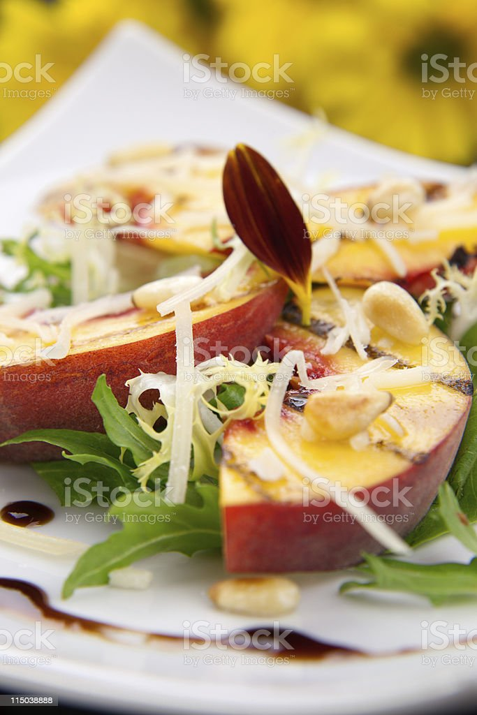 Peaches salad royalty-free stock photo