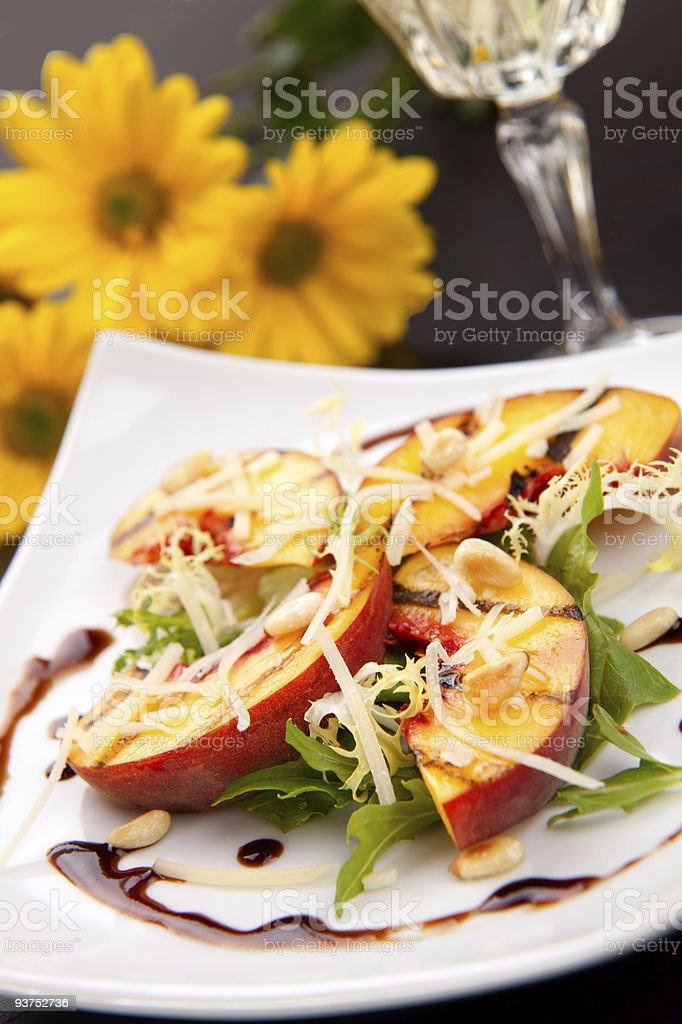 Peaches salad royalty-free stock photo