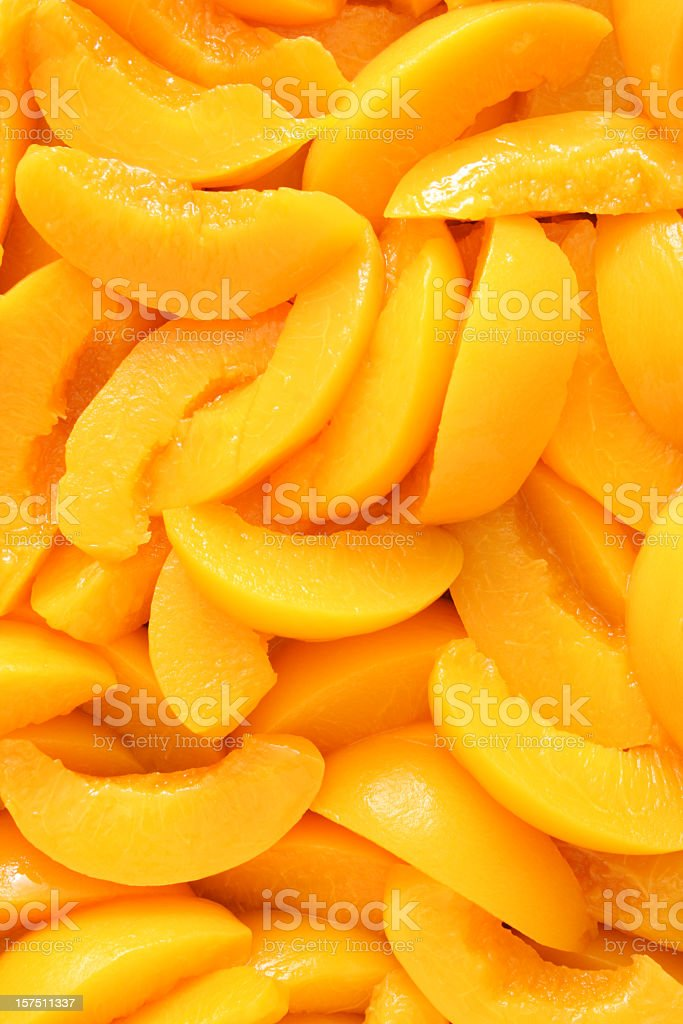 Peaches wedges background royalty-free stock photo