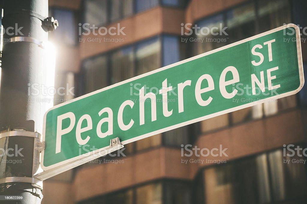 Peachtree Street, Atlanta royalty-free stock photo