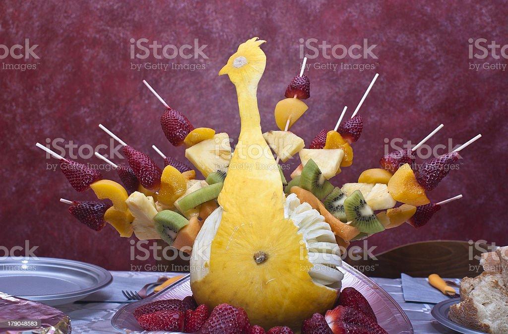 Peacock fruit stock photo