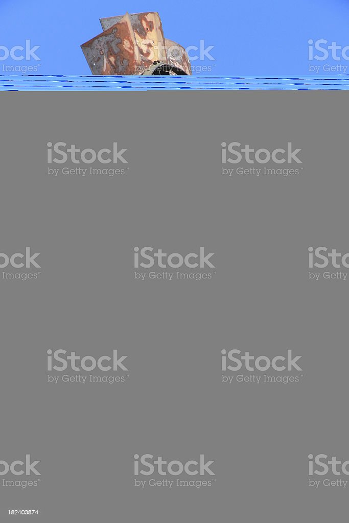 Pavone in blu foto stock royalty-free
