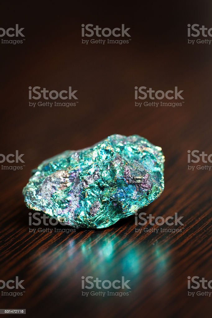 Peacock Pyrite stock photo