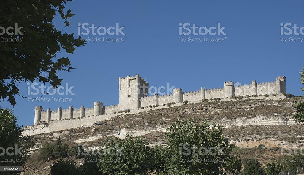 Pe?afiel Castle stock photo