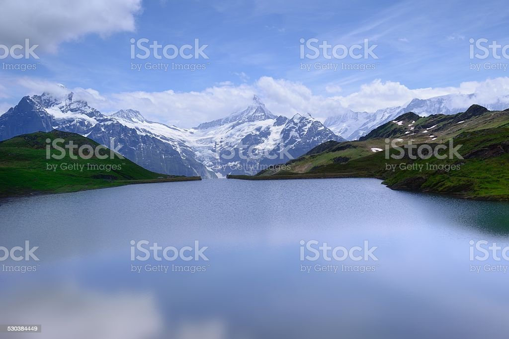 FIRST peak and lake of the Interlaken in Switzerland 01 stock photo