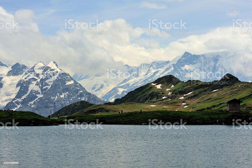 FIRST peak and lake of the Interlaken in Switzerland 02 stock photo