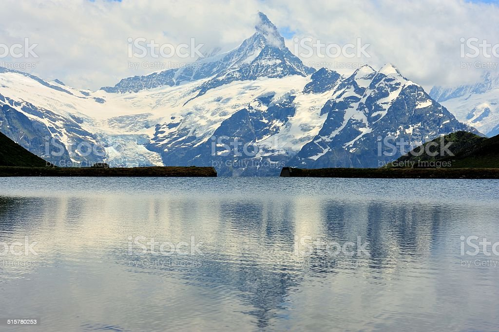 FIRST peak and lake of the Interlaken in Switzerland 03 stock photo