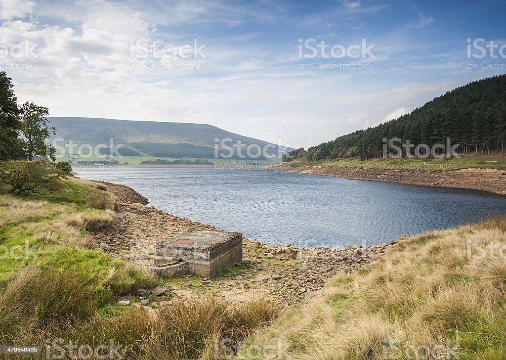 peak district reservoir stock photo