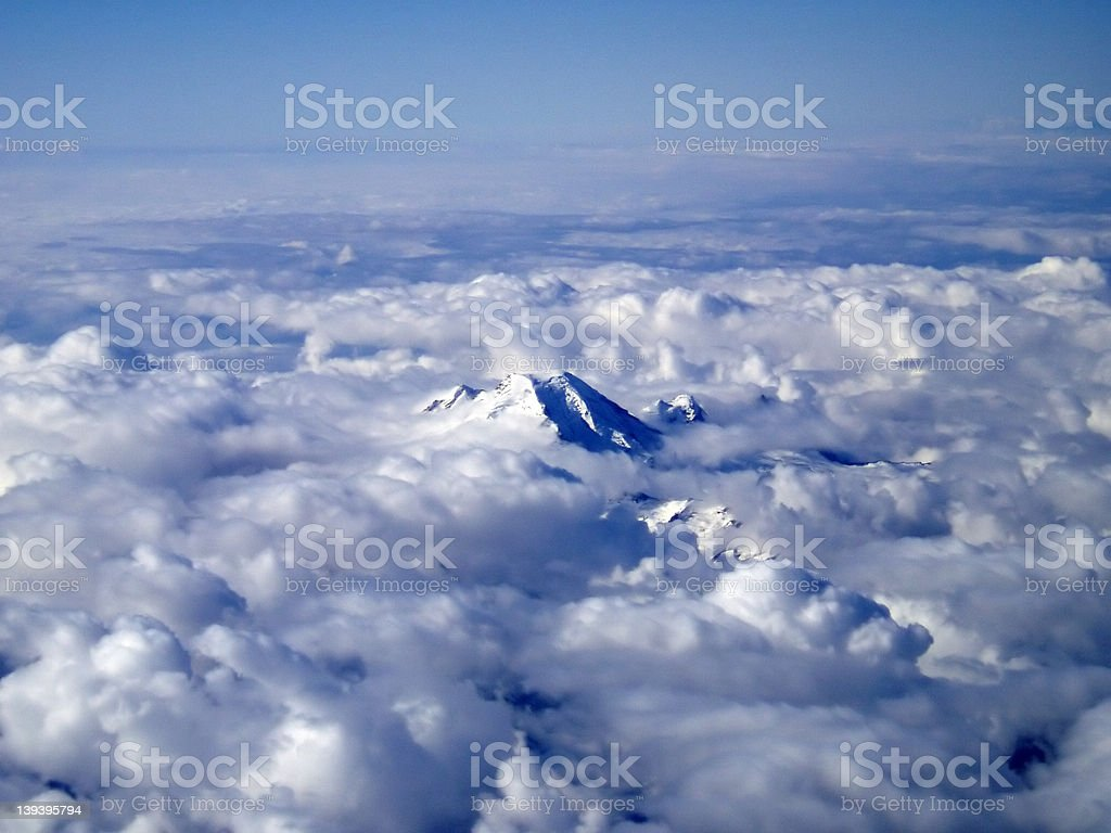 Peak In Clouds royalty-free stock photo