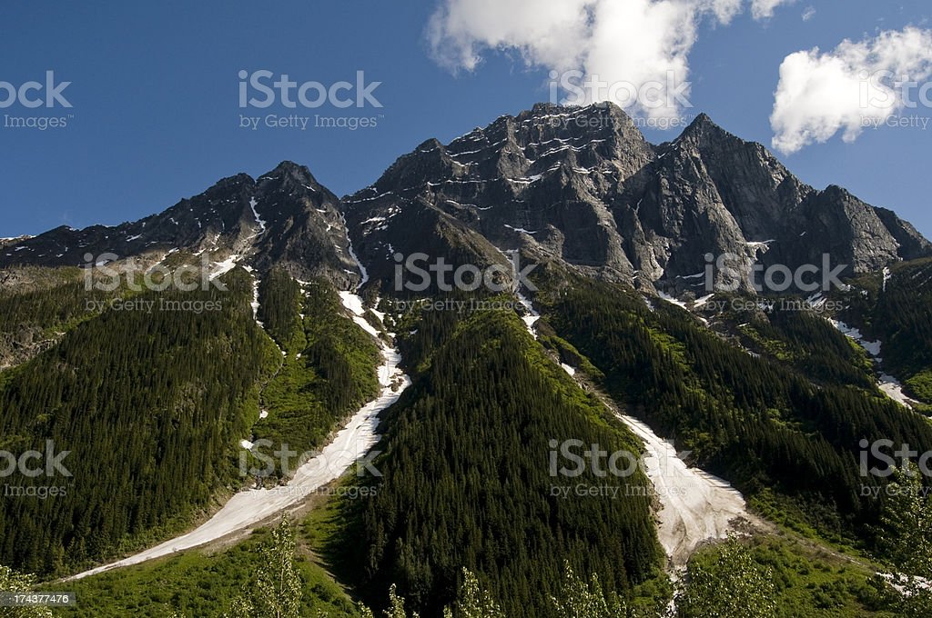 Peak in Glacier National Park, BC royalty-free stock photo