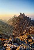 Peak in rocky mountain - Tatra