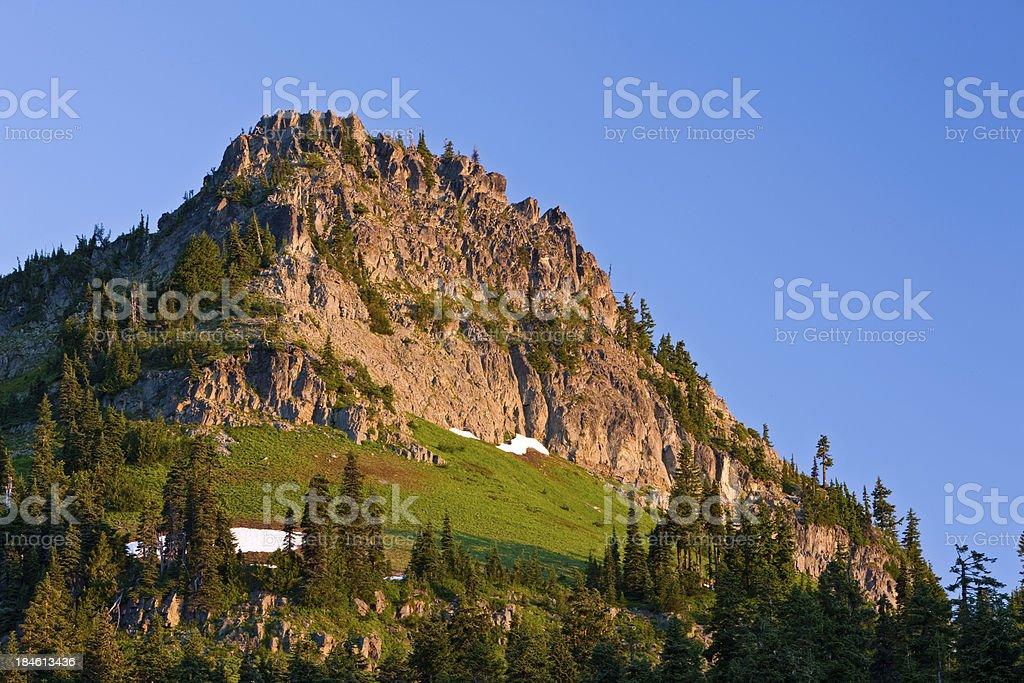 Peak Near Chinook Pass and Tipsoo Lake stock photo