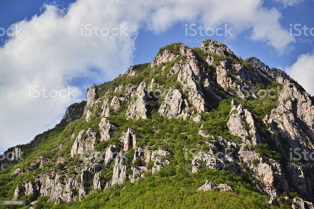 Peak of a mountain stock photo