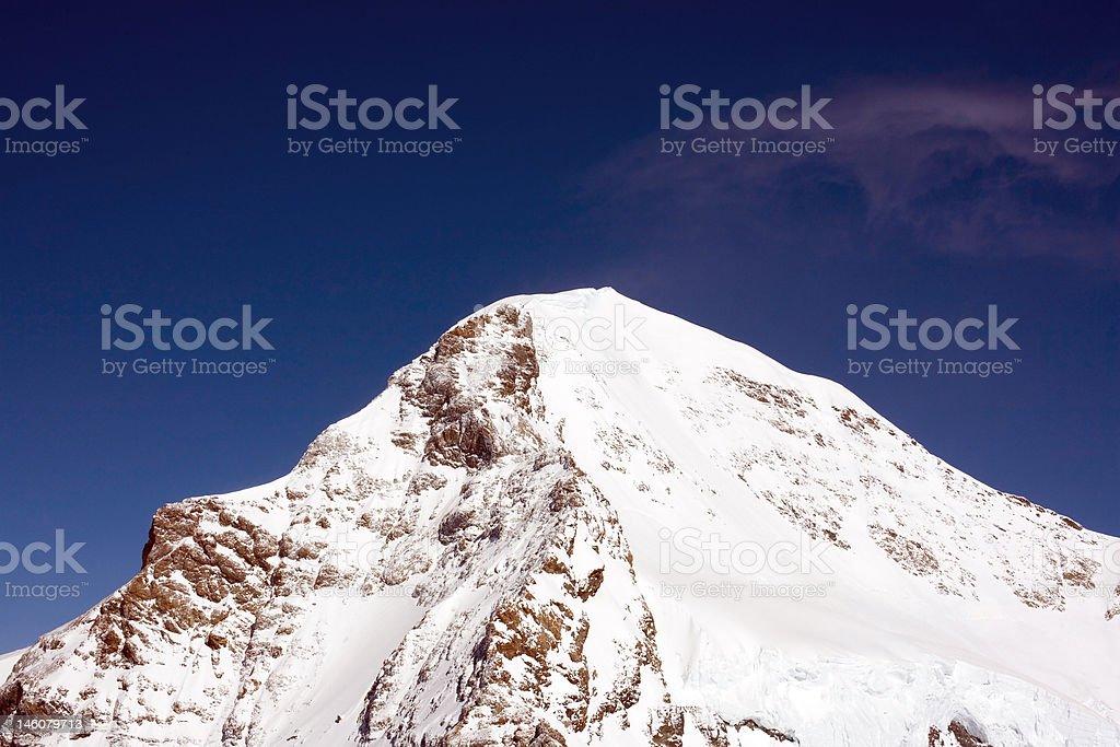 Peak of Eiger in Swizz Alps royalty-free stock photo