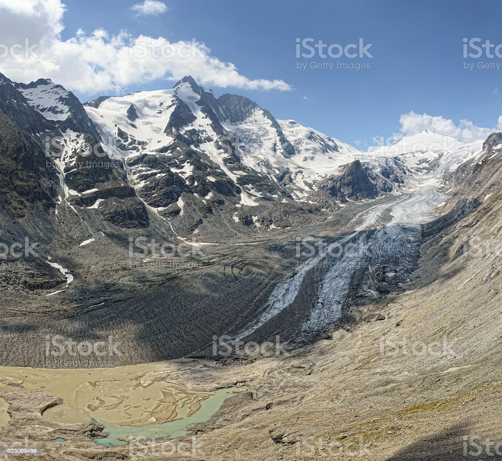 Peak of Grossglocker in Hohe Taunern range Austria. stock photo