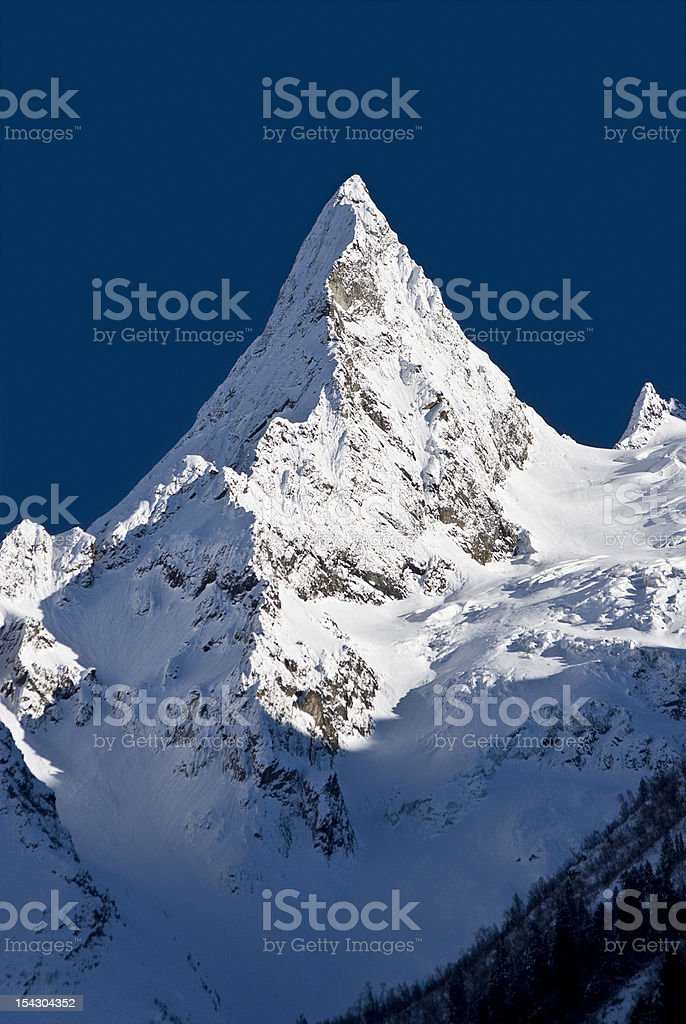 Peak of Ine Сaucasus Russia royalty-free stock photo