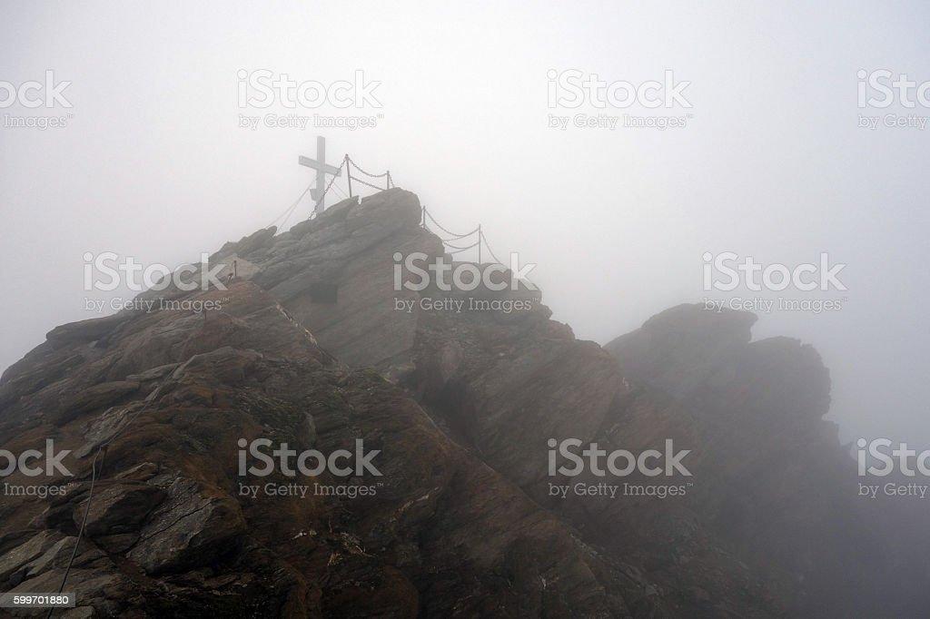 Peak of Kitzsteinhorn, Austria stock photo