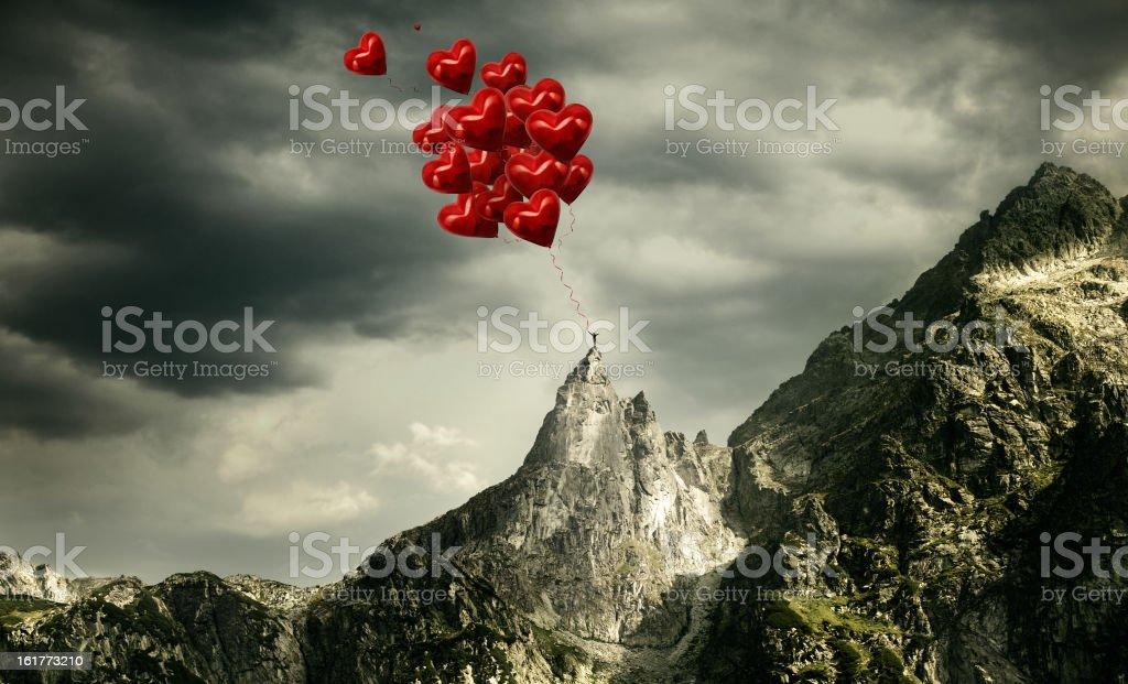Peak of love stock photo