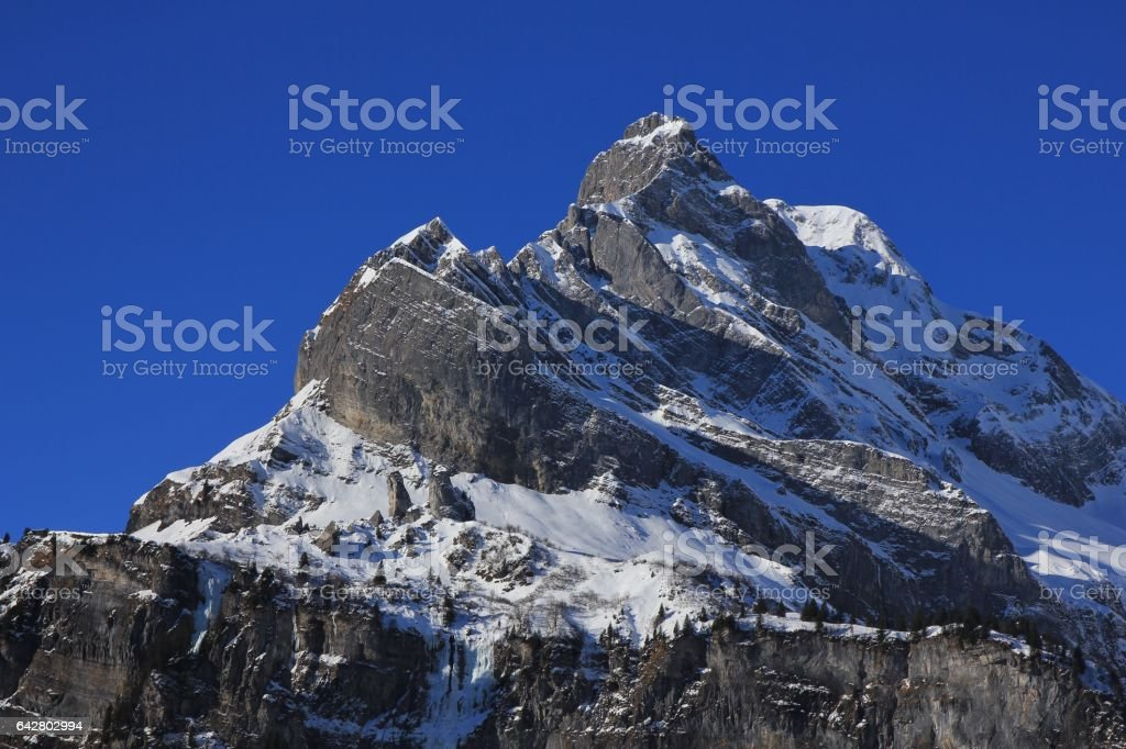 Peak of mount Ortstock stock photo