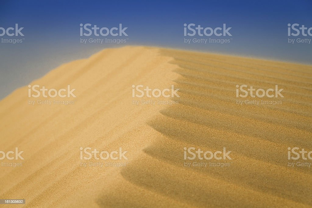 Peak of sand royalty-free stock photo