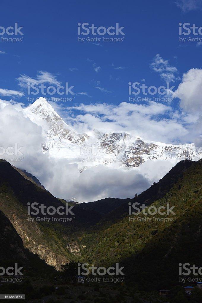 Peak of snow mountain royalty-free stock photo
