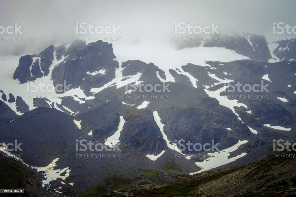 Peak of the Martial Glacier, Ushuaia, Province Tierra del Fuego, Patagonia, Argentina, South America. stock photo