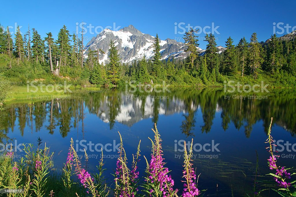 Peak Refelections royalty-free stock photo