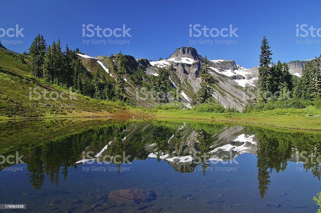 Peak Refelections royalty-free stock photo