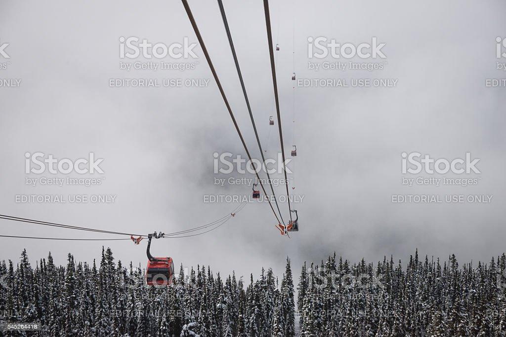 Peak to peak lift stock photo