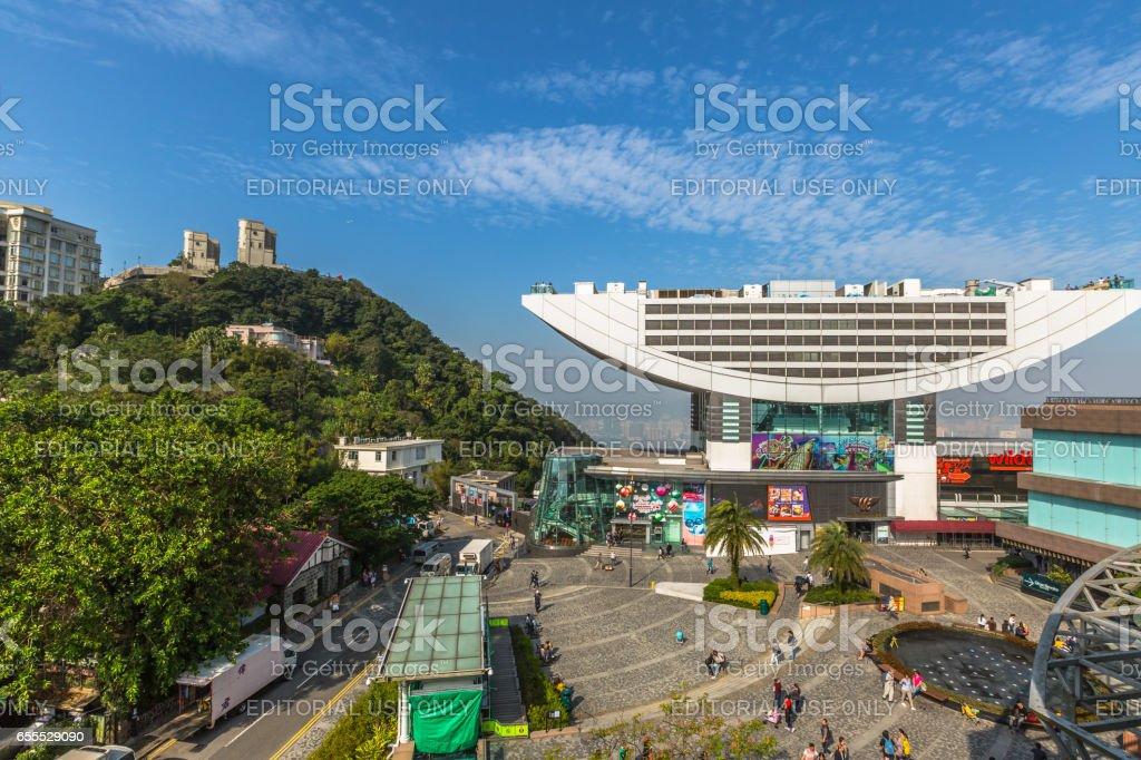 Peak Tower Hong Kong stock photo