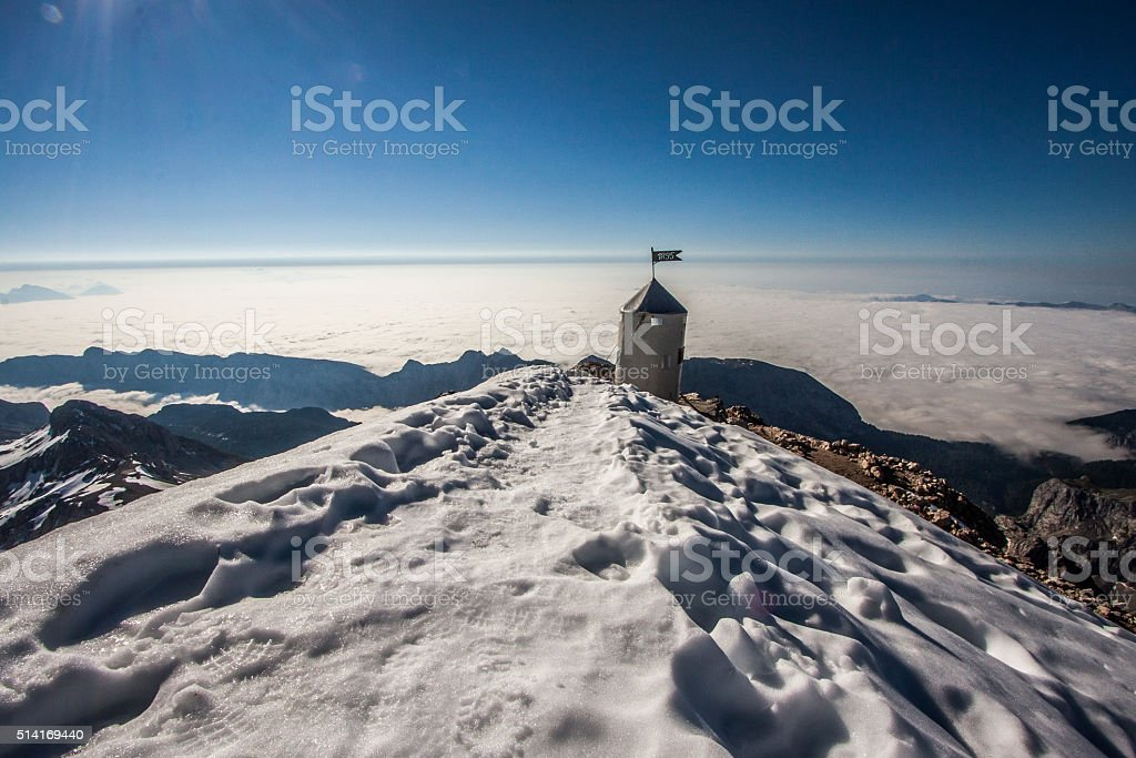 Peak tower stock photo