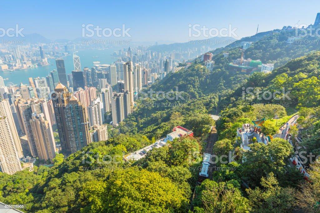 Peak Tram Hong Kong stock photo