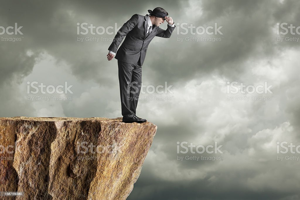 Peaking stock photo