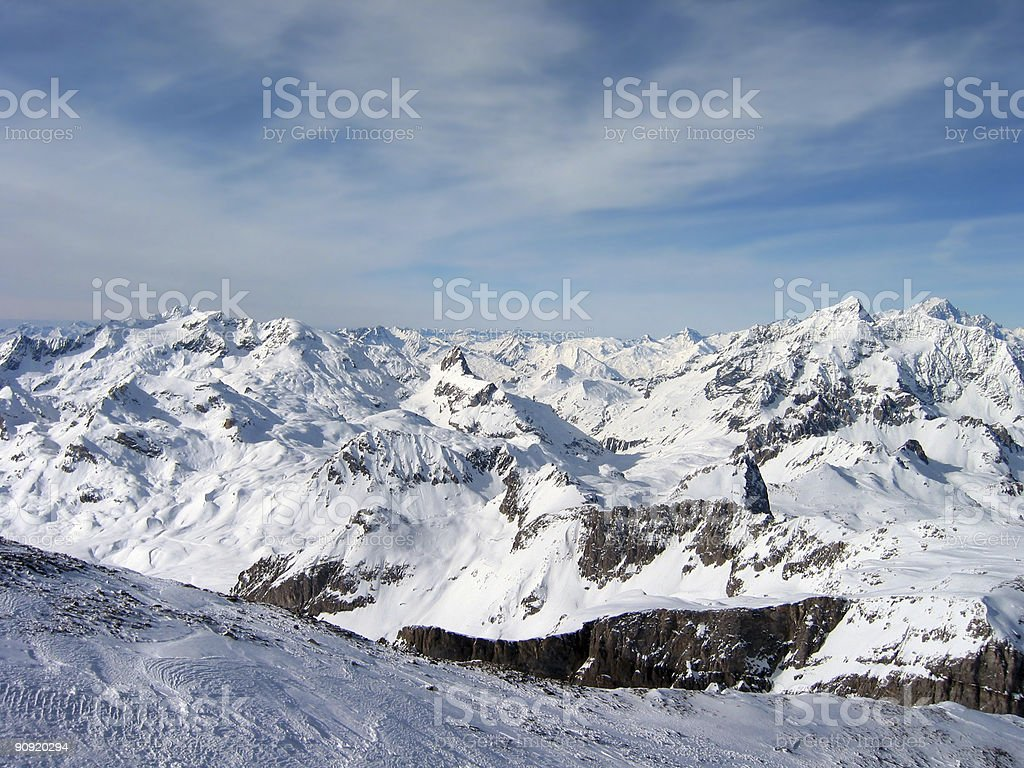 Peaks 3 royalty-free stock photo