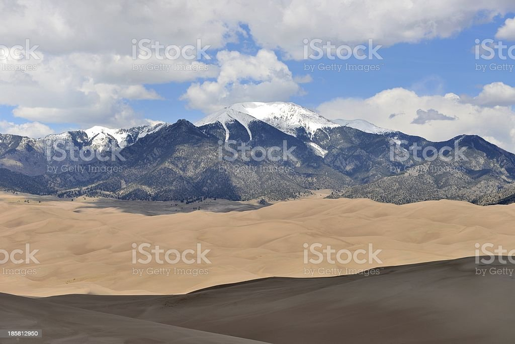 Peaks and Sand Dunes stock photo