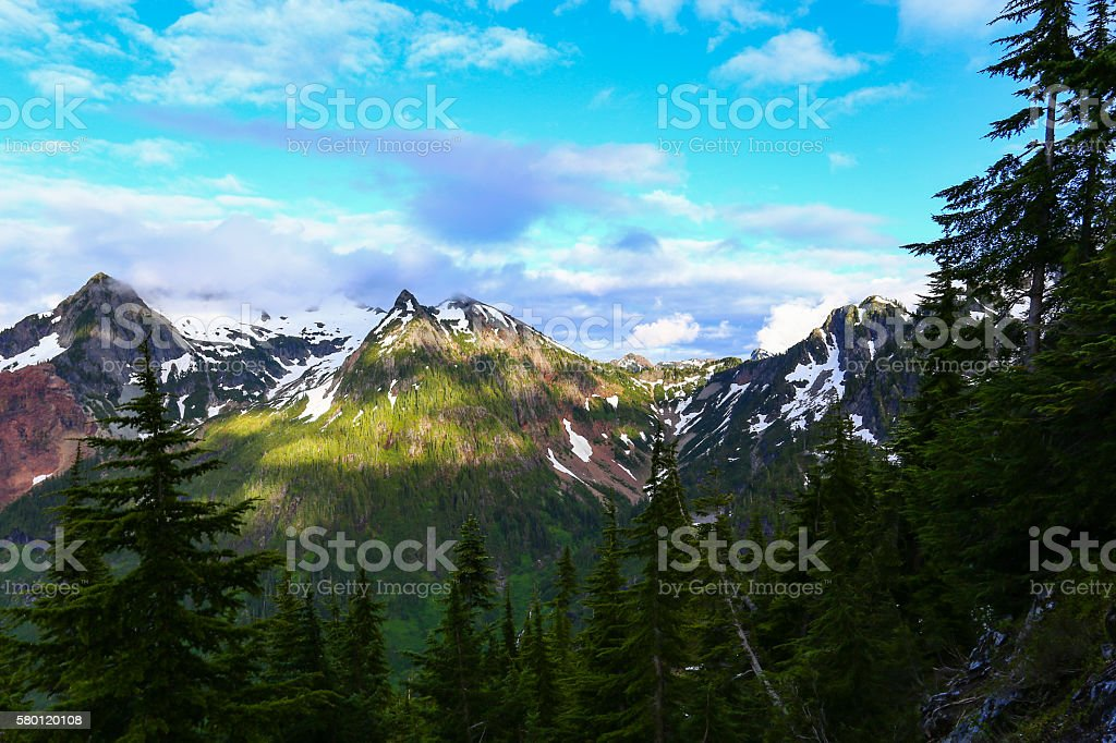 Peaks, Clouds and Valleys stock photo